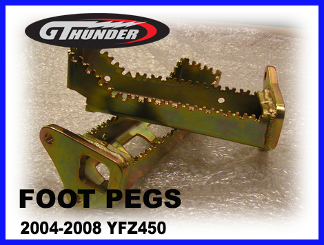 08-201 YFZ450 Foot Pegs
